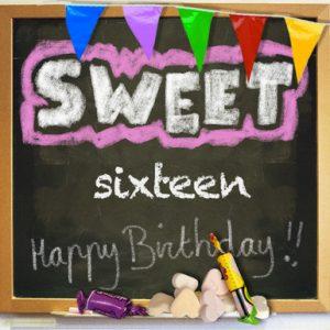 Sweet Sixteen kaart