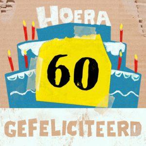 Verjaardagskaart 60 jaar