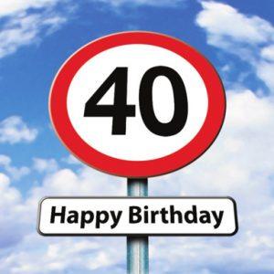 Verjaardagskaartje 40 jaar