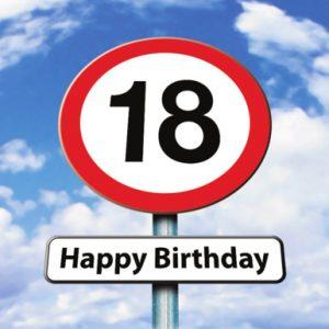 Verjaardagswens 18 jaar