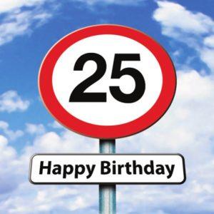 Verjaardagswensen 25 jaar